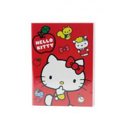 Hello Kitty 50K膠套筆記本(彩色內頁)(授權)