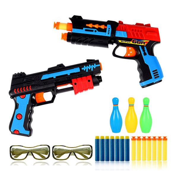 雙雄爭霸2入安全軟彈槍(附護目鏡)(親子互動雙人對戰)