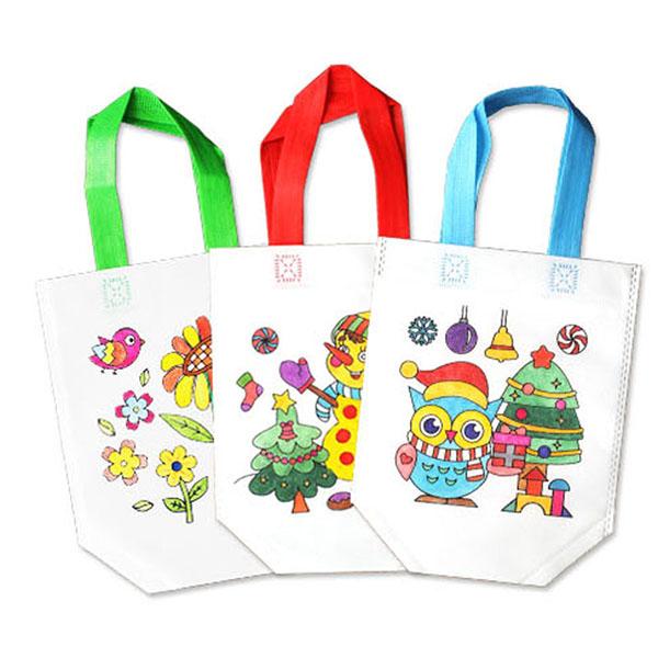 DIY兒童彩繪環保手提袋(此款沒有附彩色筆)(多款圖案)