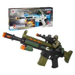 電動聲光狙擊手兒童步槍(有振動效果附背袋)(8639)