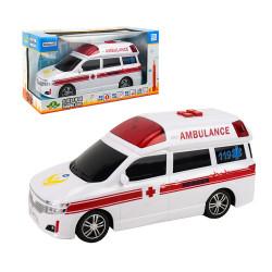 ST台灣配音中型白色救護車(救護車聲音)(有錄音功能)(品質佳超會跑)_x000D_