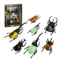 T759日版盒裝7入獨角仙仿真甲蟲模型組(ST)