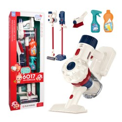 兒童仿真手持無線吸塵器清潔組(真的可以吸)(學習做家事)(6017)