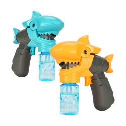 新式連續不間斷鯊魚張嘴電動泡泡槍(音效+LED燈光)