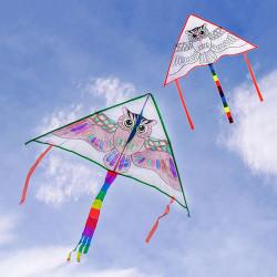 填色三角彩繪風爭(彩虹尾巴)(多款圖案)(附30公尺手板線)