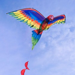 3D立體鸚鵡造型風箏(金剛鸚鵡)(140*230)(全配/附150米輪盤線)