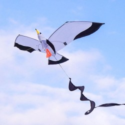 3D立體海鷗造型風箏(140*204)(全配/附150米輪盤線)