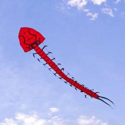 7米長大紅蜈蚣造型風箏(全配/附150米輪盤線)